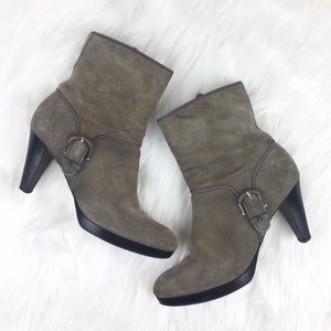Cole Haan Nike Air Suede High Heel Ankle Boot Sz 6